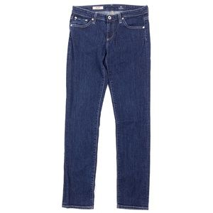 AG The Stilt Jeans Cigarette Leg Skinny Dark Wash